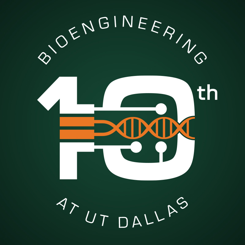 Bioengineering 10th anniversary logo