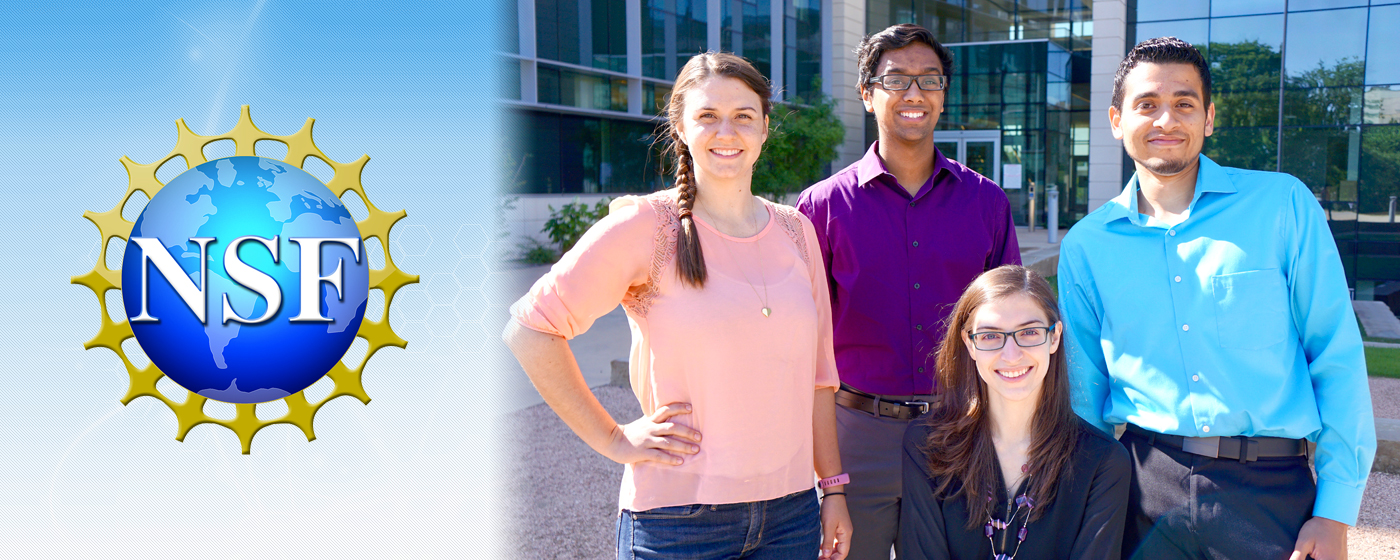 Four Bioengineering students who reeived a Graduate Research Fellowship from the National Science Foundation